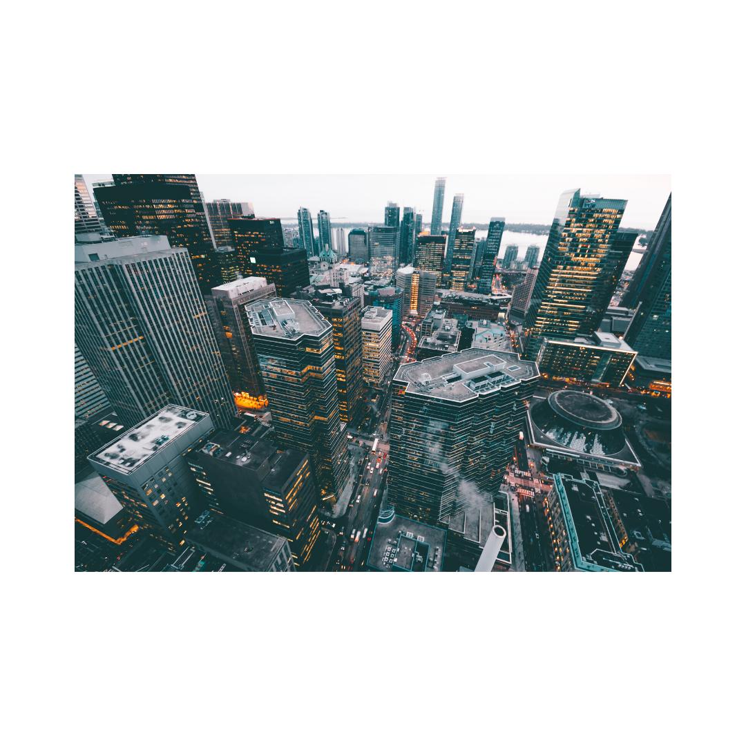 大都会の高層ビルマンション