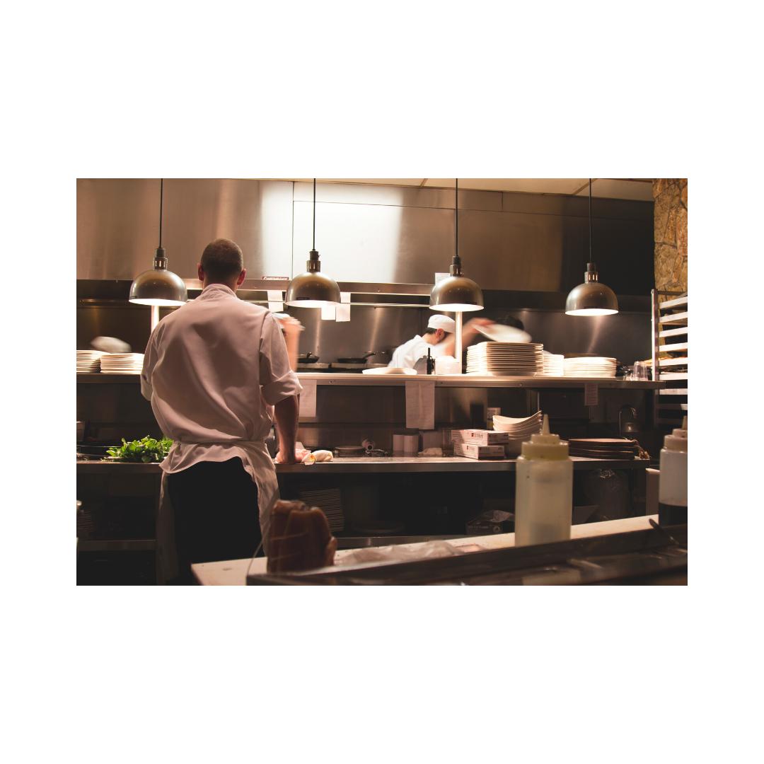 飲食店厨房とコック